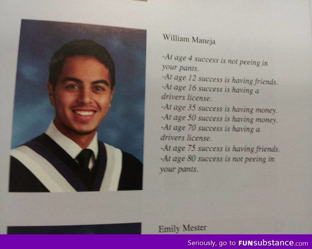 Talking about good yearbook grad quotes // funny yearbook quotes