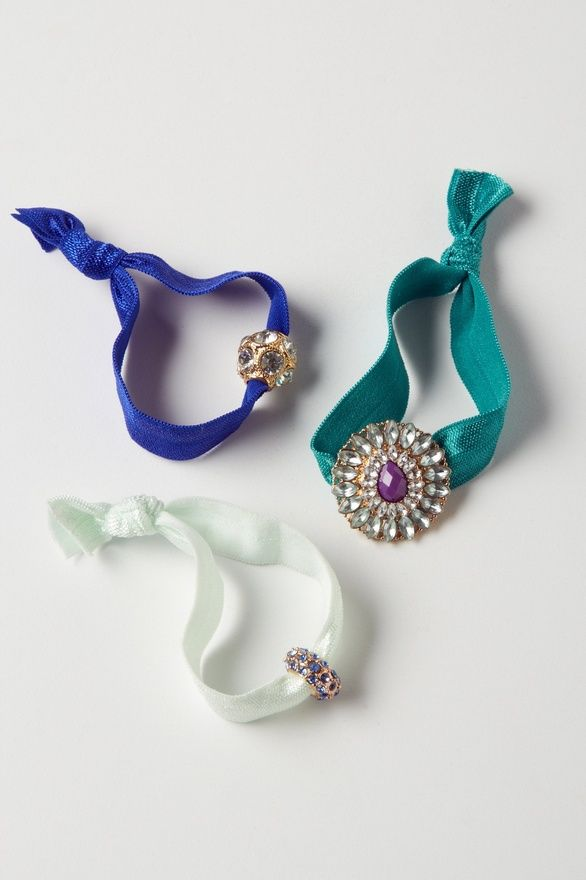 Anthropologie Charmed Hair Ties...could be DIYed with vintage jewelry #haircolour