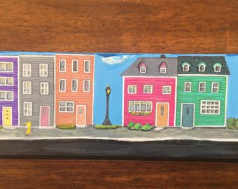 Image result for jellybean row houses st john's painted rock