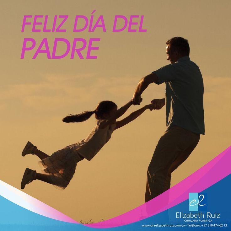 El mejor regalo de un padre a sus hijos es un poco de su tiempo cada día.  Feliz día del padre!  Dra. Elizabeth Ruiz - Cirujana Plástica