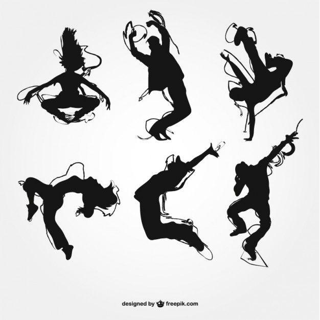 Silhouettes De Danse Moderne Scanncut Pinterest