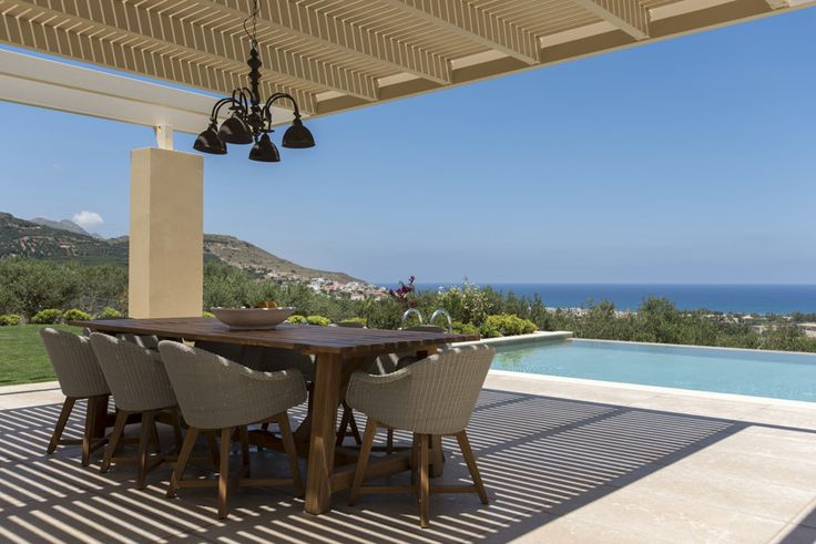 Villa Iris Crete Sleeps up to 6. Cutting edge architecture and stylish design bring cosmopolitan chic to the countryside at this luxury villa in western Crete. Wide open views of the sea and mountains add to its innate serenity.
