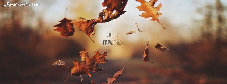 ∻ November Facebook Cover ∻