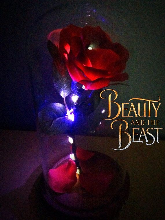 232 best beauty and the beast images on pinterest birthday enchanted rose handmade replica easter giftgraduation negle Images
