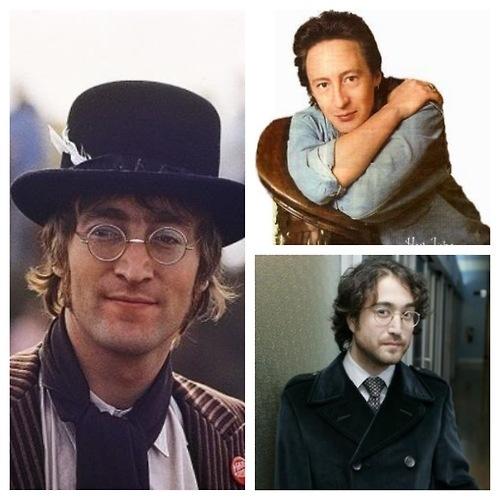 John Lennon, Julian Lennon, and Sean Lennon (Lennon men)