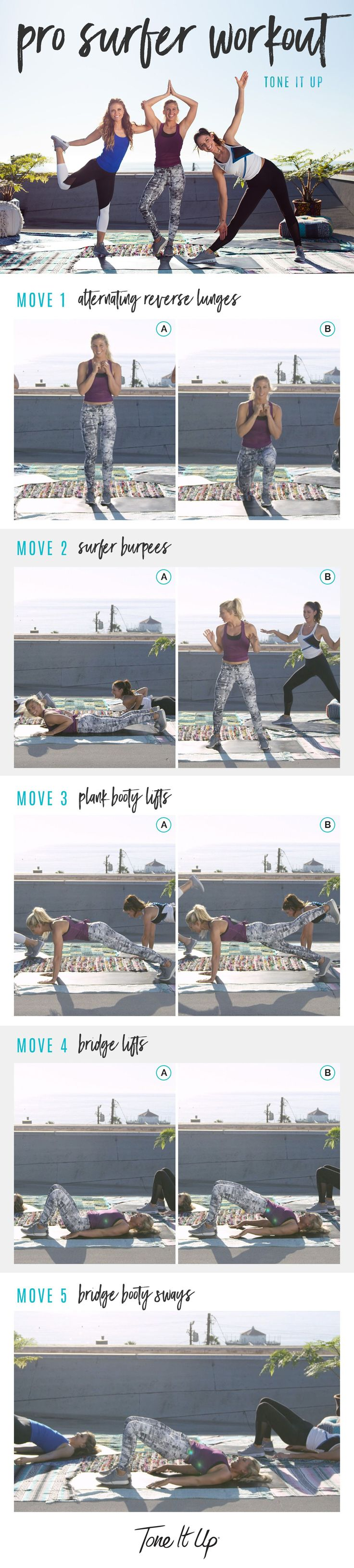 Tone It Up Pro Surfer Workout with Karena, Katrina, & Sage