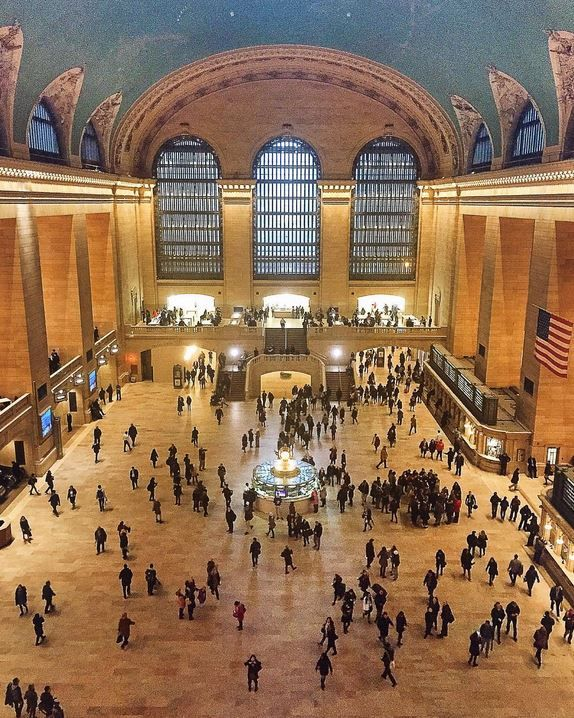 """""""People watching in Grand Central from the best spot ever – the catwalks at Grand Hyatt New York. Wishing this moment would freeze in time. Thank you for this incredible #LivingGrand adventure! This beauty is literally a hundred steps from my room."""" -- Melissa Koh"""