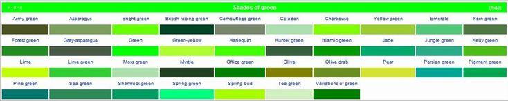 Google Image Result for http://4.bp.blogspot.com/_q3B4NxepJSM/TLXBgINbMMI/AAAAAAAAAH0/x45UfRjB4vM/s1600/shades-of-green1.jpg