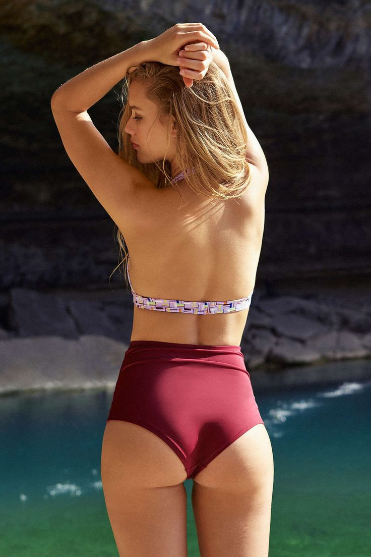 Out From Under Solid High-Waisted Bikini Bottom - Urban Outfitters