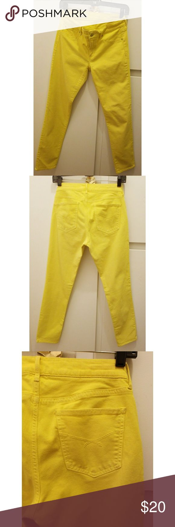 Gap Jeans Super cool Gap Denim Jeans in Neon Yellow with great stetch in size 27/ 4r. Super comfy jeans that can bw work with a tee oe tank for day and/or night wear.                     #BeFashion #RENVNTFashion GAP Pants