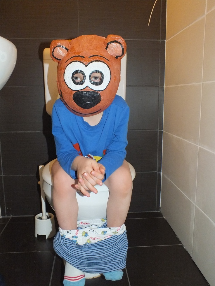 Baby Bear in the loo :D
