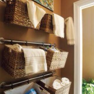 Laundry room or bathroom storage