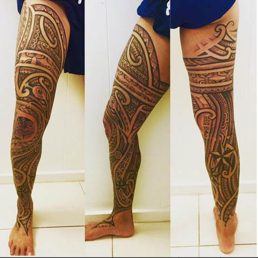 Soccer player, Natasha Kai's leg sleeve by Leland Gomez. # ... Xoil Sleeve Tattoo
