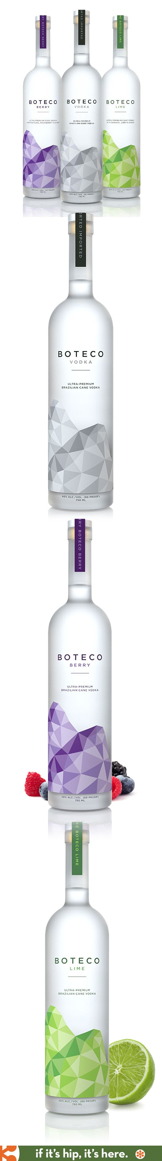 Brazilian's Premium Cane Vodka, Boteco Vodka, comes in beautiful bottles designed by Shatterbox Studios.
