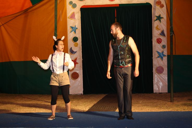 Elsa and Simon as the rabbit and the Ringmaster
