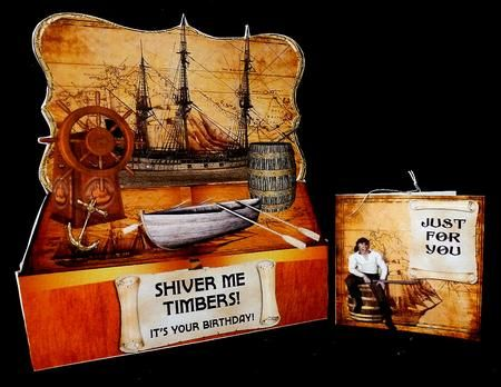 Pirate Card ...Kit.  Just perfect for the little or big boy in your life.