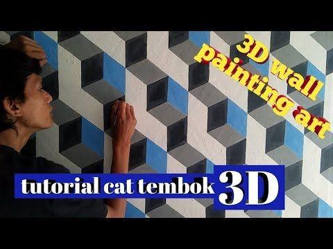 tutorial cat tembok 3d    3d wall painting - YouTube   Cat ...