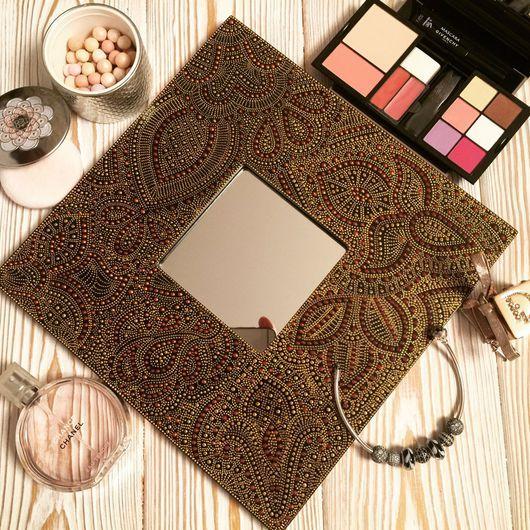 Зеркала ручной работы. Ярмарка Мастеров - ручная работа. Купить Зеркало для макияжа. Handmade. Точечная роспись