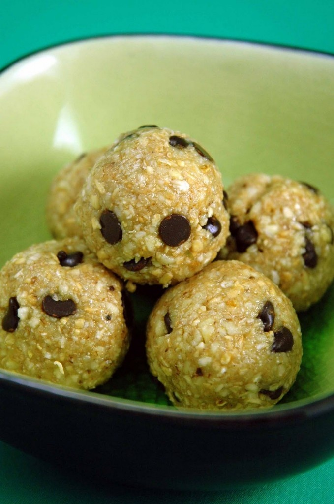 Cookie Dough Bites- Made with raw nuts, oatmeal, agave...One of my favorite recipes of the year!!! I think I made these at least 50 times.