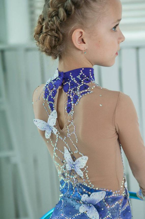 Beautiful designer rhythmic gymnastics leotard by artmaisternia