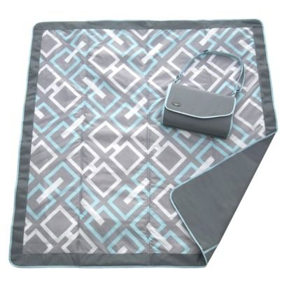 JJ Cole Outdoor Blanket - Gray Links $30 at Target.  Waterproof on one side,perfect for outdoors