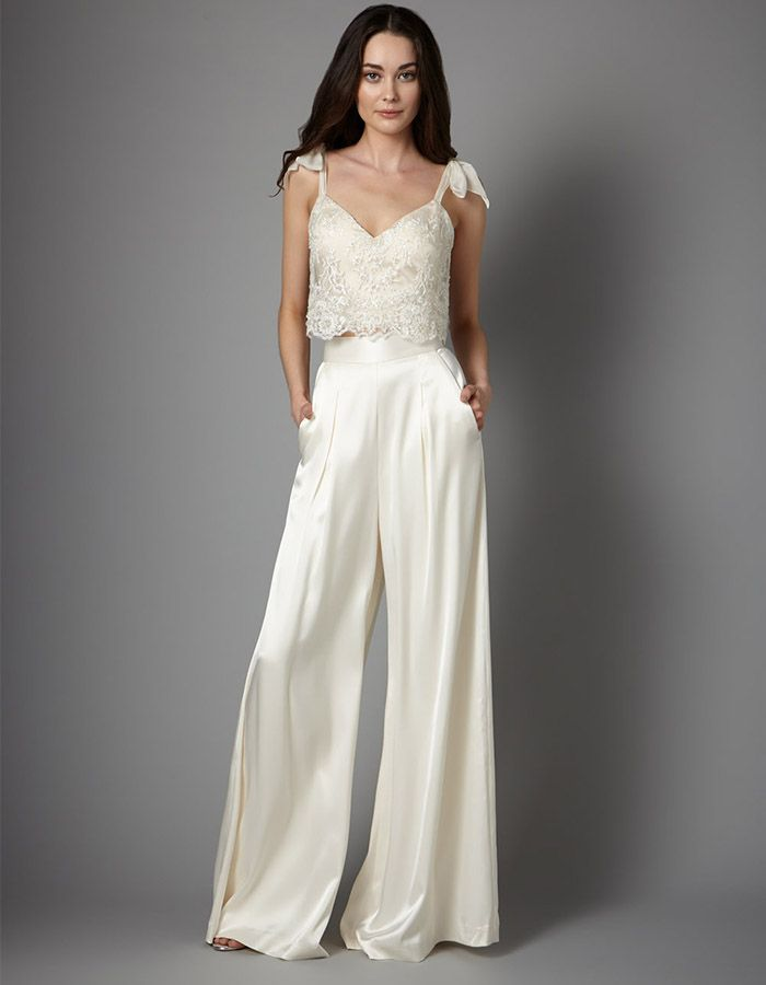 Wedding pantsuits for the bride - 20 examples