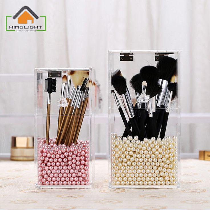Makeup brush storage box Organizer Cosmetic Holder Makeup Tools organizador Brush and Accessory Organizer (No Pearl) F006