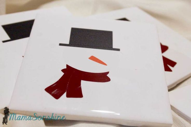 DIY Christmas Coasters ~ fun Silhouette projects & gift ideas! | Mama Sonshine
