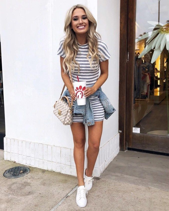 563cf9b604b Nice Ideas To Wear Skirts With Sneakers 17 | YouTube in 2019 ...