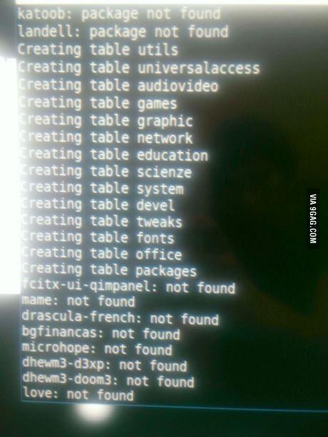 Installing program in linux when suddenly...