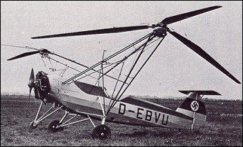 Focke-Wulf Fw 61, 1936, the first practical, functional helicopter in the world