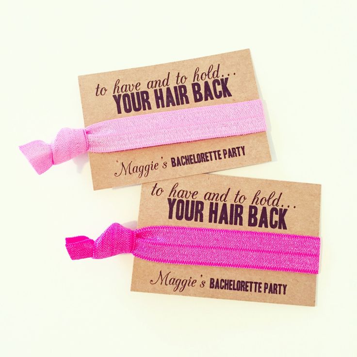 Pink Bachelorette Party Hair Tie Favors   To Have…