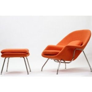 Faux Saarinen womb chair- orange or turquoiseOrange Womb, Lounges Chairs, Chairs Orange, Womb Chairs, Saarinen Womb, Living Room, Eero Saarinen, Saarinen Style, Good Book