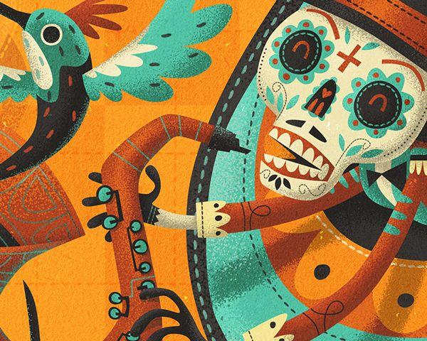 Illustrations for Tuzo's, new Mexican kitchen/ burrito bar in Dublin