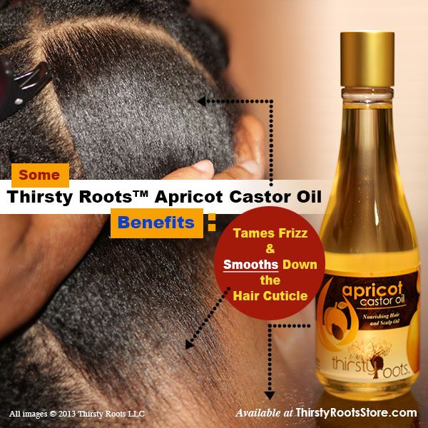 A look into some benefits of using Thirsty Roots™ Apricot Castor Oil: Taming frizz and Smoothing hair. - Buy at ThirstyRootsStore.com