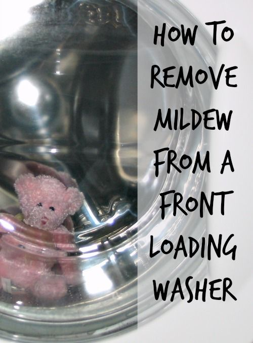 cleaning mildew from washing machine