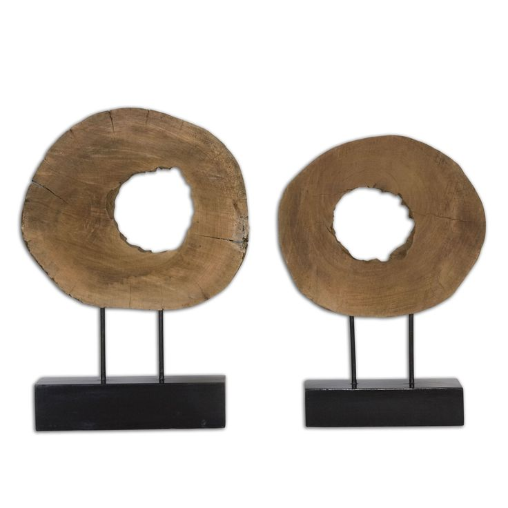 Ashlea Wooden Sculptures, Set of 2 by Uttermost