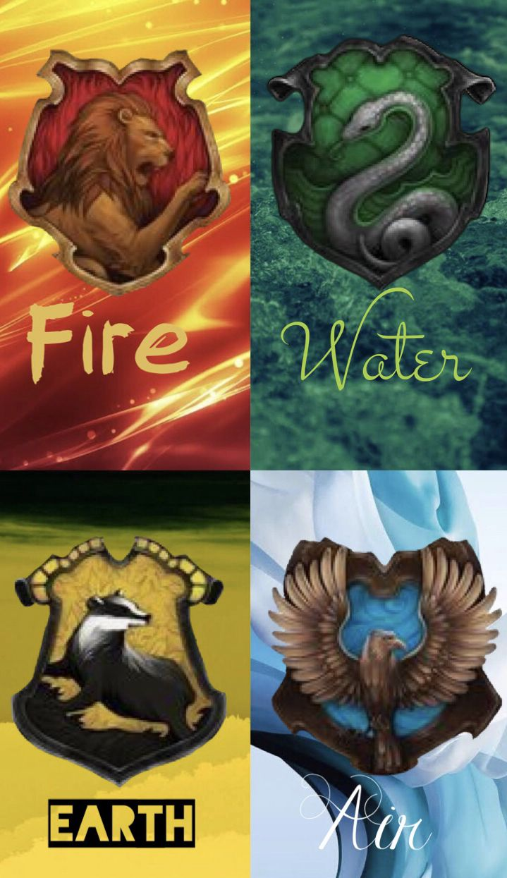 The Houses And Their Elements Harry Potter Zodiac Harry Potter Zodiac Signs Harry Potter Ravenclaw