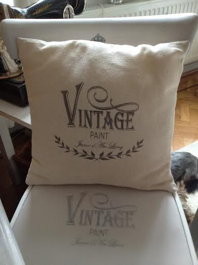 """Vintage Cushion with Provencal Style """"Vintage"""" by ByBeeSee on Etsy"""