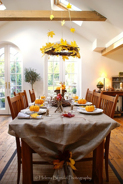 Cool And Rustic Thanksgiving Table Setting Ideas