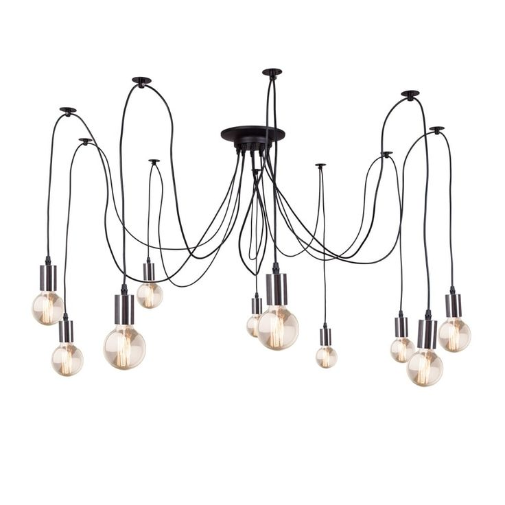 Edison Spider Lamp in Chrome | Contemporary & Modern Chandelier | Cult