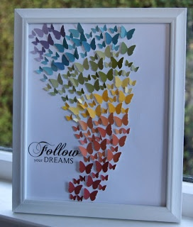 Rainbow butterfly picture