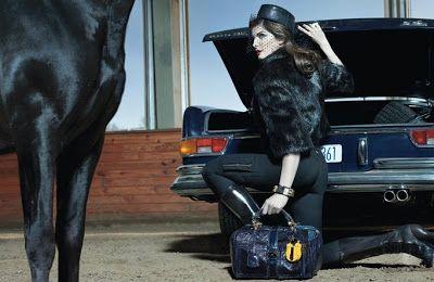 Mis modelos favoritas y otras obsesiones: Stephanie Seymour (LOEWE otoño invierno 2008-09)