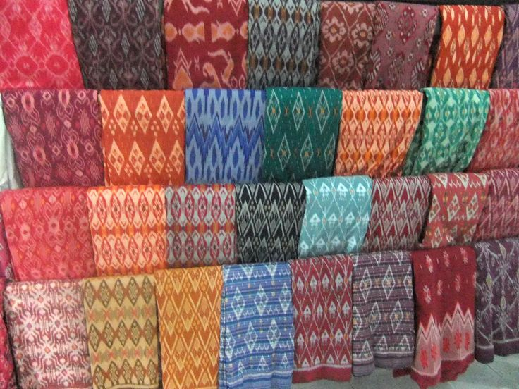 Tenun Ikat fabric. Google search.