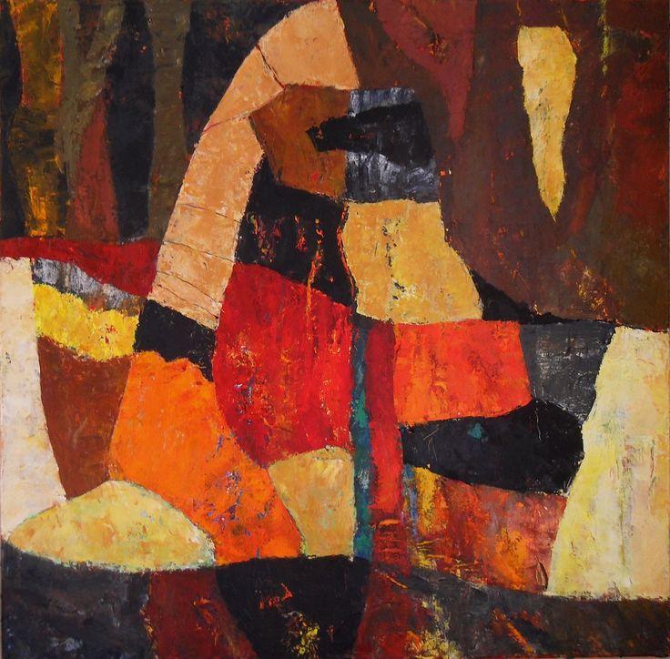 Dahab Figures - part of the exhibition Dahab Suite. Original painting by Henrik Hytteballe
