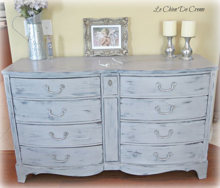Shabby Chic Paris Gray Dresser