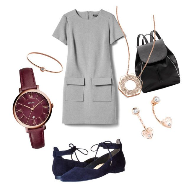 """""""Untitled #3"""" by madalina-diaconu on Polyvore featuring Banana Republic, Paul Green, Witchery, FOSSIL, GUESS and Swarovski"""