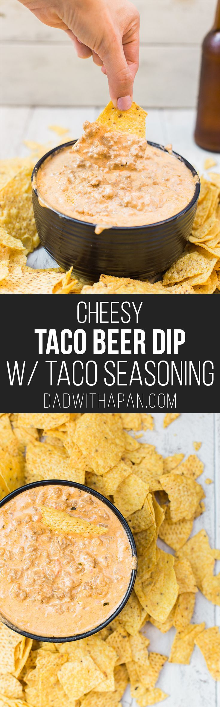 Add taco seasoning to your beefy, beer cheese dip to add a spicy twist to your game day appetizers!