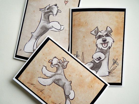 Hey, I found this really awesome Etsy listing at https://www.etsy.com/listing/126629784/schnauzer-greeting-cards