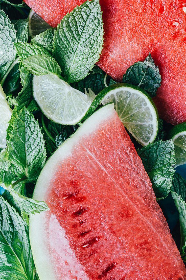 Watermelon Mint and Lime Granita